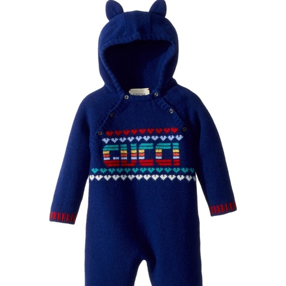 3c29417d1 Gucci One Pieces | Nwt Baby Sleepsuit Cashmere Rainbow Onesie | Poshmark